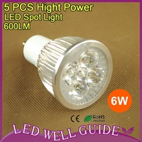 100pcs/lot LED spot light  GU10 6W AC85-265V HIGH POWER High brightness Warm White/Cool White Free Shipping DHL/FEDEX