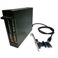 Free shipping PCI-e x1 To 2 PCI 32bit  slots adapter PCI express to dual PCI Riser Card Optical Drive Bay Installation