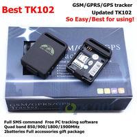 GPS Tracker Original TK102B Updated TK102 Iphone APP tracking 4band  full accessories! Retail box! Web&PC GPS tracking system