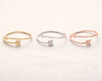 R8 adjustable Arrow Wrap Ring - unique rings,stretch rings,midi ring