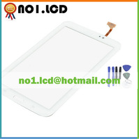"""100% Original new 7.0"""" touch screen digitizer glass panel for SAMSUNG Galaxy Tab 3 7.0 T210 SM-T210 WIFI 1024*600 white+ tools"""