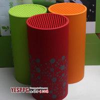 Red/Green/Orange Knife Holder Fashion Multifunctional Plastic Kool Holder Knife Block Sooktops Tube Kitchen Shelf Chromophous
