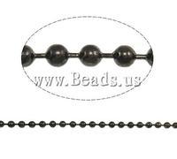 Free shipping!!!Iron Ball Chain,Womens Jewelry Fashion, plumbum black color plated, nickel, lead & cadmium free, 3.20mm