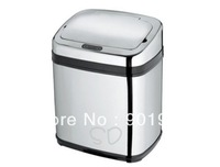 15litre rectangle stainless steel  Infrared  IR touchless automatic sensor trash can-4pcs/lot