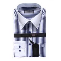 Factory Wholesale Men striped dress shirts men Long Sleeves shirts M to 4XL shirt Men Cotton Clothes High Quality,