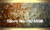Modern Art Handpainted Golden Wheal Palette Knife Oil Painting On Canvas Wall Hangings Pictures Home Decoration As Unique Gift