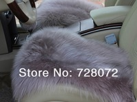 Free Shipping (DHL,FEDEX,EMS) 1 Set (3pcs) Luxurious Pure Wool AUS Sheepskin Car Seat Covers -Huimaojian