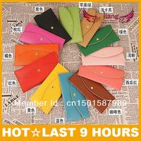 New 2013 wholesale fashion female long wallet zero wallet credit card 16 color of candy women's bag envelope bag