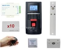 DIY Full Complete Fingerprint And Id Card Door Access Control System +Drop Bolt Lock + Remote Control