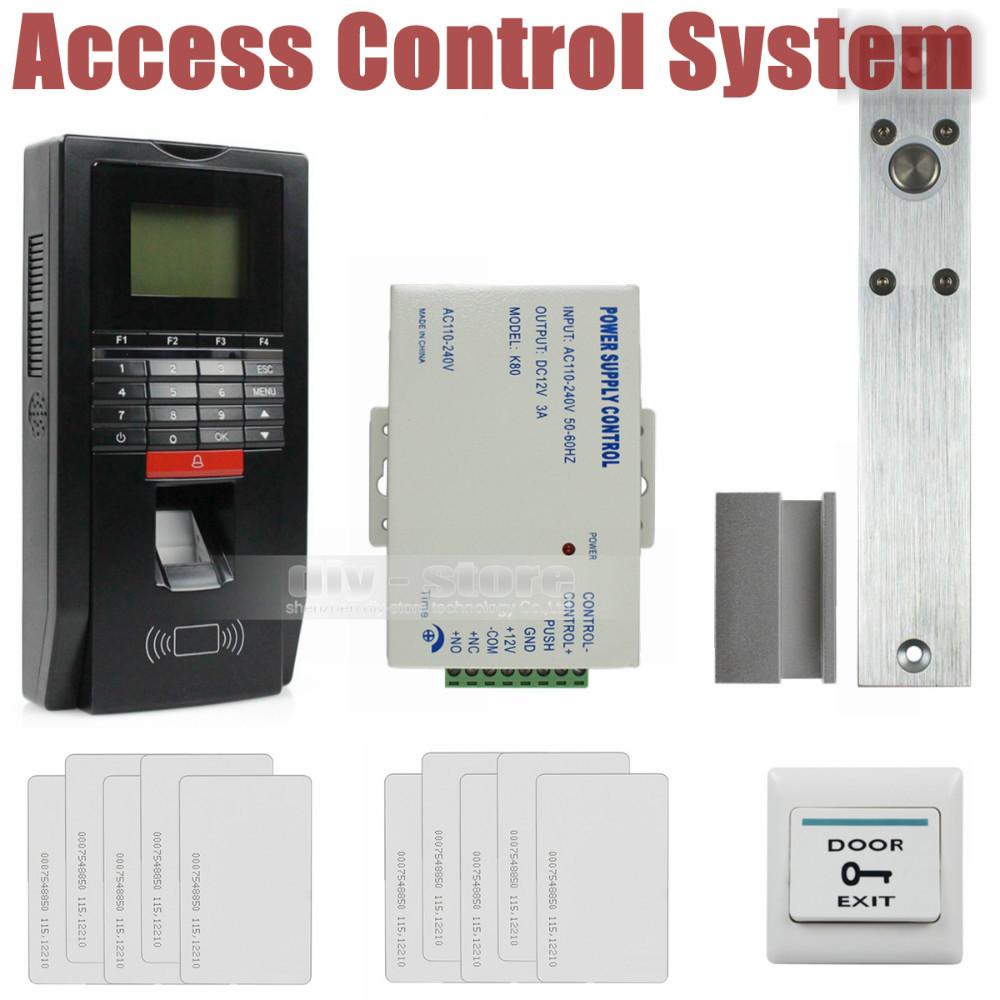 DIY Full Kit Set Fingerprint Id Card Reader Password Keypad Door Access Control System Kit Drop Bolt Lock For Office / House(China (Mainland))