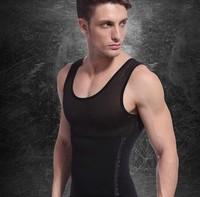 Fashion 2013 Free Shipping New 1pc White/Black Color Men's Vest Tank Top Slimming Shirt Corset Body Shaper Fatty Wholesale