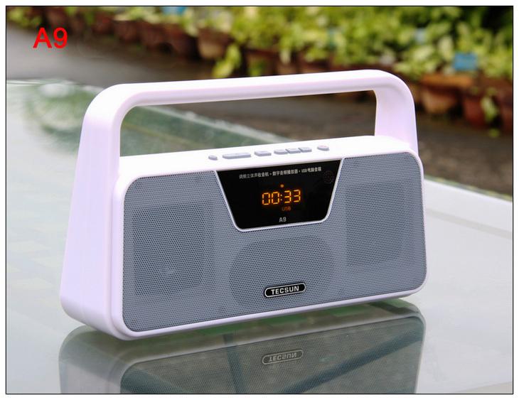 TECSUN A9 FM Stereo Radio Reception LED Digital Display MP3 Player Computer Speaker Radio Receiver Portable