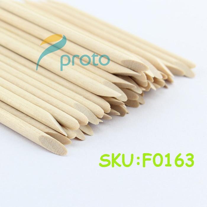 100PCS Length 7.5cm Orange Wood Sticks Nail Tools Nail Art Cuticle Pusher Remover eyebrow waxing applicator SKU:F0163(China (Mainland))