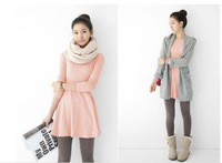 Free shipping! women's long sleeve cotton Grinding wool comfortable dress casual dresses.2013 autumn and winter dress
