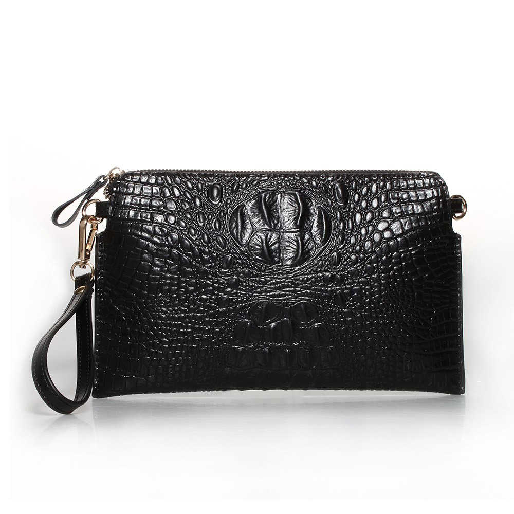2014 luxury Crocodile pattern clutch bag women's Messenger Bags 100% genuine leather cowhide purse women wallet limited for you(China (Mainland))