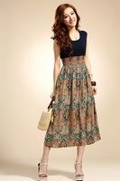 women's Long Beach Dress 2014 Thin Long Bohemian Beach Dress,Summer,Spring,Autumn fashion Beach dress four colors Free Shipping