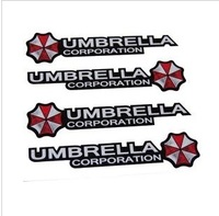 Free shipping Car decorative reflective/UMBRELLA/Ann brera resident evil zombie UMBRELLA shape control door stickers