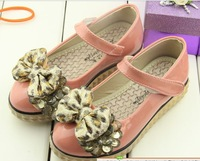 Free shipping Flat small 2013 shoes high-heeled bow shoes leather princess shoes