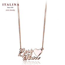 Free Shipping! 200690 High Quality Gift Jewelry for Mother 18K Gold Plated Best Mom Pendent Necklace