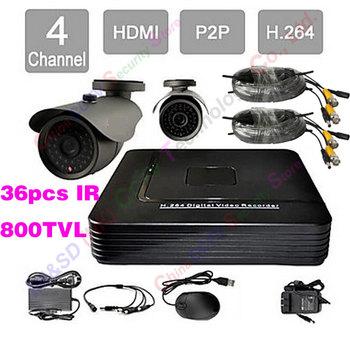 Home 4CH Full D1 DVR System 1080P HDMI P2P Cloud CCTV DVR Kit Day Night IR Waterproof Camera Surveillance Video DIY CCTV systems