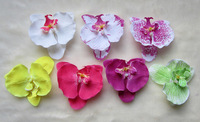 4pcs Moth Orchid Flower with Hair Clips Girls Head Flower Children Kid's Hair Accessories Free Shipping
