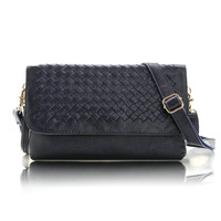 100% genuine leather women messenger bag 2013 women's handbag vintage envelope bag women messenger bag Ladies Woven Bag