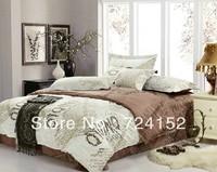 Sacrifice promotionHot sell 4pcs bed set/bedding sets Duvet cover Bedding sheet bedspread pillowcase Twin Full King size WLN11
