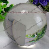 100MM Clear Crystal Ball/ light crystal ball/ contact juggling/ magic ball /New arrival/ Free shipping