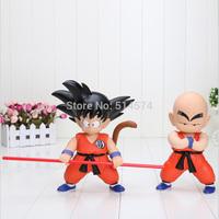 2 pcs/Lot 18cm/ 7 inch Height Japan Anime Dragon Ball Z Goku Kuririn PVC Action Figure Dragonball In box
