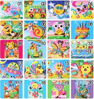 F101 Hot Sale20 Designs 3D EVA Cartoon Puzzle Stickers Handmade Self-adhesive foam Painting Early Educational DIY Toys 170x126mm