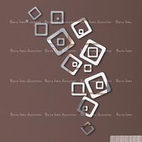 3D mirror wall stickers 21 square decorative wall stickers portfolio