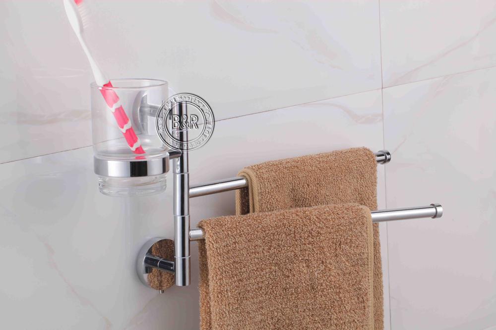 Raindance Dusche Wasserverbrauch : Double Shelf Towel Rack Aluminum