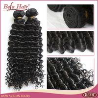 Virgin hair peruvian kinky curly 4pcs per lot Befa hair products human hair extension free shedding free shipping