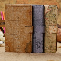 World Map Design Wallet Case Cover for Google Nexus 7 N7 2nd Generation Gen II 2   1pcs/lot