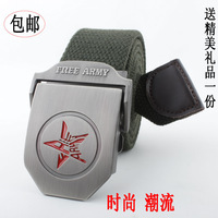 Hot-selling canvas belt male outdoor casual thick thread knitted strap fashion belt mens canvas belts