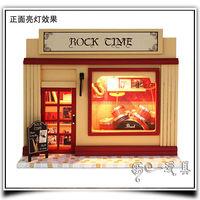 New Store Promotion Rock Era Free Shipping Novelty DIY Doll House