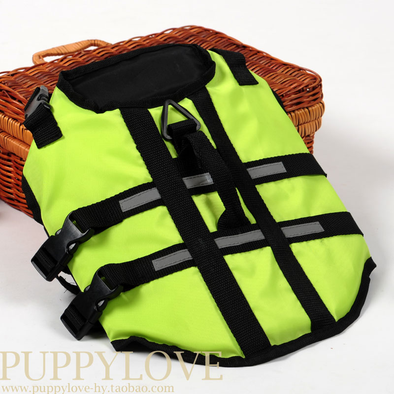 Pet clothes dog life jackets, safety swimsuit big dog clothes, spring and summer waterproof raincoat, new fashion 2014(China (Mainland))