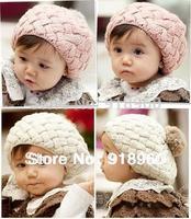 beanie 2014 new Autumn & winter baby Knitted hats Kids caps/children Berets bonnet/woolen crochet skullies/1-4 Years old/ATL