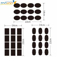 Free Shipping:Free 1 Liquid Chalk Pen Chalkboard Sticker Labels Vinyl Kitchen Pantry Home 3 Design 36 Pcs Decals 5CM X 3.5CM