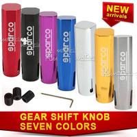 New Universal Car Gear Shift Knob Auto Lever Stick Manual Aluminum gold/ silver/ black/blue/red/purple/ Titanium free shipping