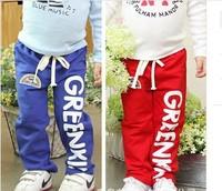 1pc Children's clothing Rainbow Alphabet Childrens trousers Boys Girls Leisure pants Children Kid pants 5 Size Can Choose CL0515