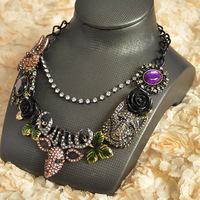 Колье-ошейник 0451! Min order $10 Trend fashion gold chunky choker statement necklace for women jewelry at Factory Price