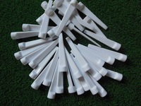 Free Shipping 200pcsX70mm Wholesale Flat Shape Golf Tees with White Plastic Golf Nails