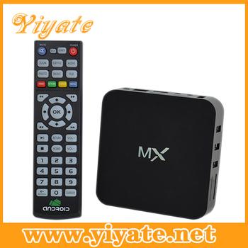 wholesale 10pcs/lot  Android 4.2.2 smart TV Box/AML8726 MX dual core TV Box support LAN HDM SD/MMC port TV Box