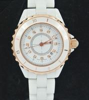 New Quartz Men Luxury Wristwatch Women Dress Brand Ceramic CZ Diamond Watch with LOGO Valentine's day/Christmas gift