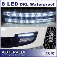 8 LED Daytime Running light Universal Auto Light waterproof 2pcs/set Super White Lamp Head DRL Light Car Fog Lamp wholesale