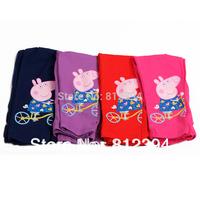 FREE SHIPPINGA Peppa pig female child pink baby girls full length legging trousers elastic pants children's clothing pants G4223