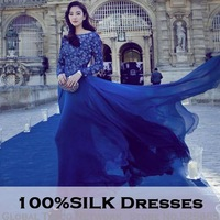 2013 100% Silk sequin maxi dress long sleeve high waist elegant women European Style Floor-length long Dresses Fashion Star's