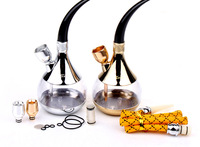 New arrival zb-505  Free Shipping Luxury Two-site Hookah Dual-use Water Smoking Pipe Cigarette Holder