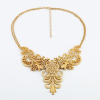 Min.order is $(mix order)Fashion accessories vintage charm cutout metal flower necklace Free Shipping